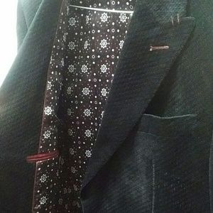 Suits & Blazers - Eleganza Uomo Black Slim Blazer 38R